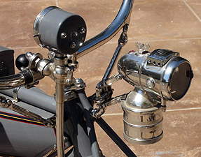 1913 Big Twin headlamp and speedo