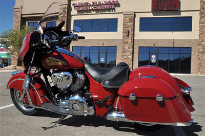 2014 Indian Chief with solo seat Left rear view