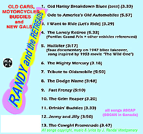 back cover of Old Cars CD