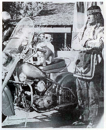 Chief rider dressed as Indian