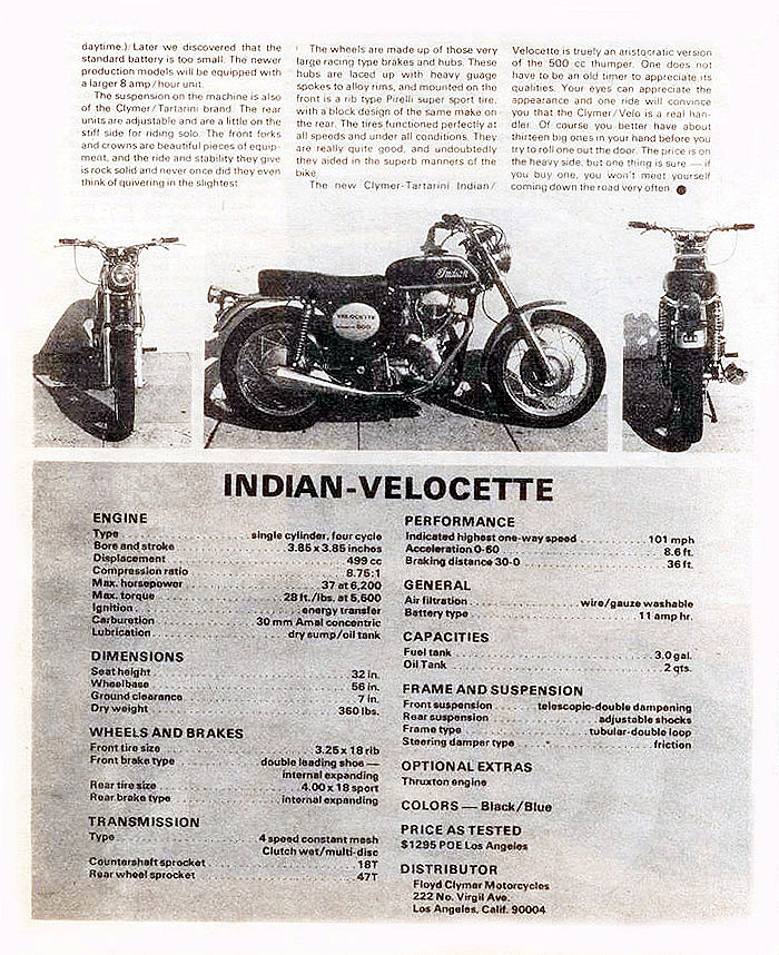 Velocette magazine article p. 3